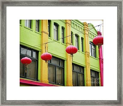 Chinatown Lanterns I Framed Print by Chris Andruskiewicz