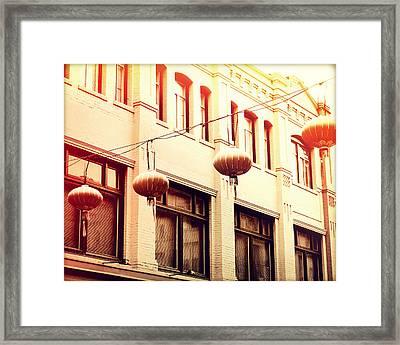 Chinatown Lanterns II Framed Print by Chris Andruskiewicz