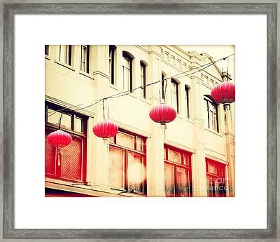 Chinatown Lanterns IIi Framed Print by Chris Andruskiewicz