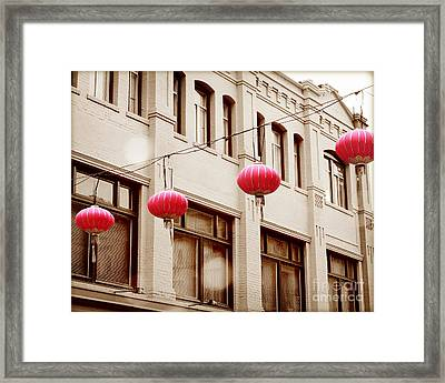 Chinatown Lanterns IIII Framed Print by Chris Andruskiewicz