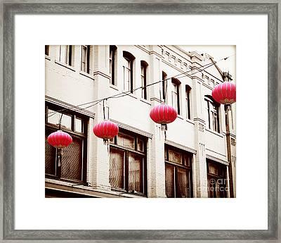 Chinatown Lanterns V Framed Print by Chris Andruskiewicz