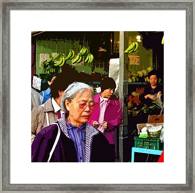 Chinatown Marketplace Framed Print by Joseph Coulombe