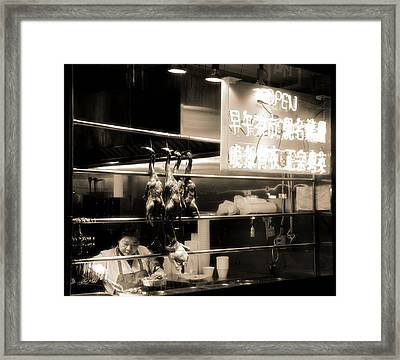 Chinatown Restaurant New York City Framed Print by Dan Sproul