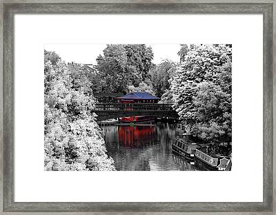 Chinese Architecture In Regent's Park Framed Print by Maj Seda