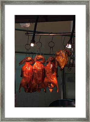 Chinese Bbq Duck And Chicken Framed Print by Frank Gaertner