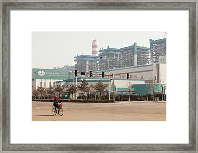 Chinese Coal Fired Power Station Framed Print by Ashley Cooper