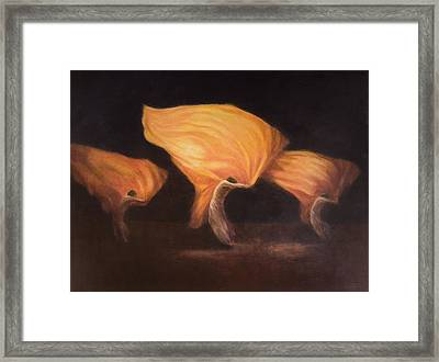 Chinese Dancers, 2010 Acrylic On Canvas Framed Print by Lincoln Seligman