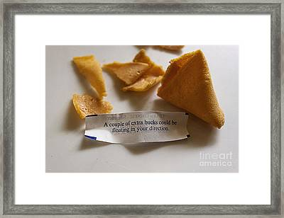 Chinese Fortune Cookie Framed Print by Janice Rae Pariza