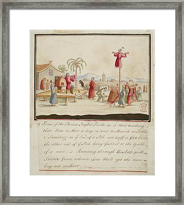 Chinese Jugglers Tricks Framed Print by British Library
