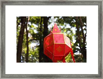 Chinese Lanterns - Wat Phrathat Doi Suthep - Chiang Mai Thailand - 01137 Framed Print by DC Photographer