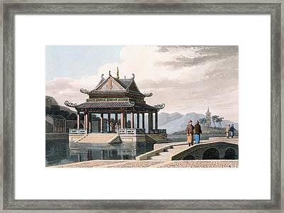 Chinese Pavilion, 1810 Framed Print by Thomas & William Daniell