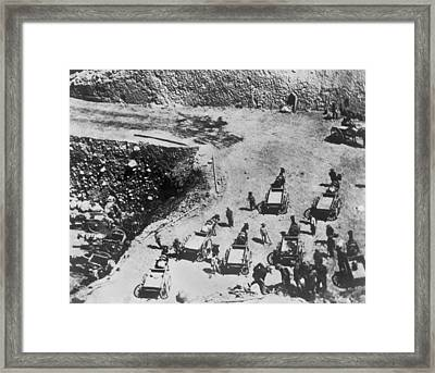Chinese Railroad Workers Framed Print by Underwood Archives