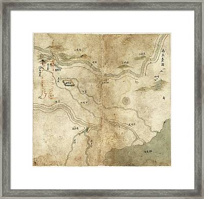 Chinese River Embankments Framed Print by Library Of Congress, Geography And Map Division