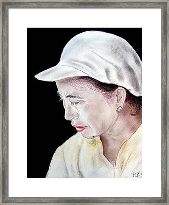 Chinese Woman With A Facial Mole Framed Print by Jim Fitzpatrick