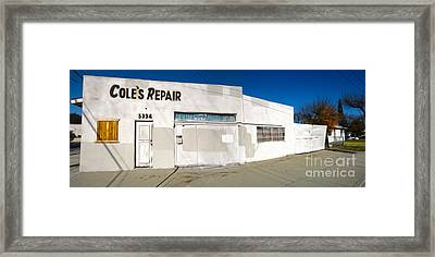 Chino - Coles Repair - 02 Framed Print by Gregory Dyer