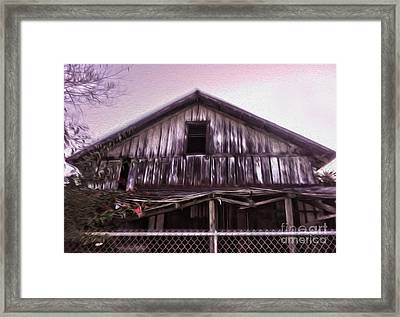 Chino Haunted Barn Framed Print by Gregory Dyer