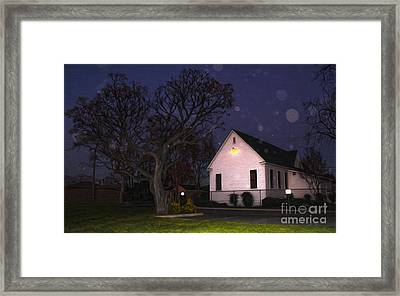 Chino Old School House At Night- 01 Framed Print by Gregory Dyer