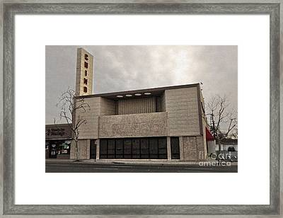 Chino Sign - Old Theater Framed Print by Gregory Dyer