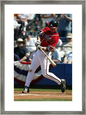 Chipper Jones Atlanta Braves Framed Print by Retro Images Archive