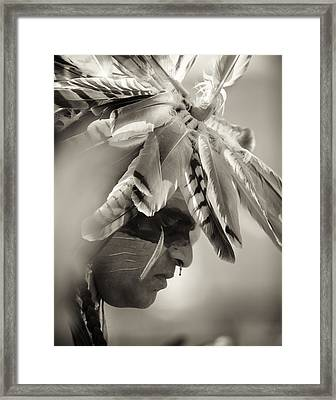 Chippewa Indian Dancer Framed Print by Dick Wood