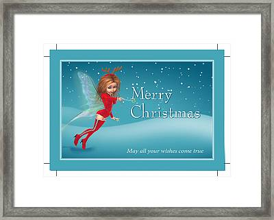 Chirstmas Fairy Framed Print by John Junek