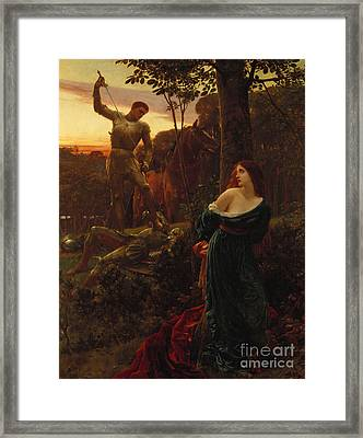 Chivalry Framed Print by Sir Frank Dicksee