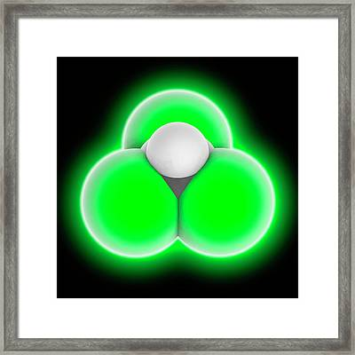 Chloroform Molecule Framed Print by Laguna Design