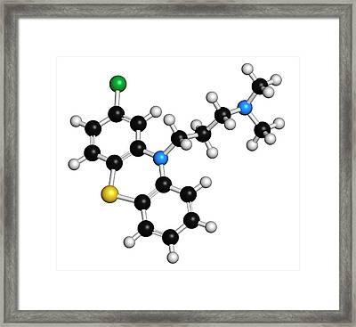 Chlorpromazine Antipsychotic Drug Framed Print by Molekuul