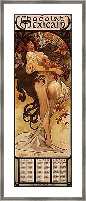 Chocolat Masson, 1897  Framed Print by Alphonse Marie Mucha