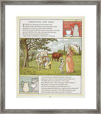 Chocolate And Milk Framed Print by British Library