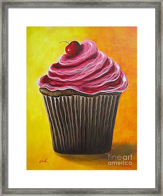 Chocolate Banana Cupcake By Shawna Erback Framed Print by Shawna Erback