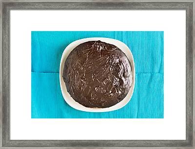 Chocolate Cake Framed Print by Tom Gowanlock