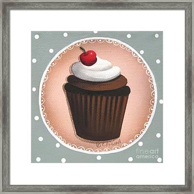 Chocolate Cherry Chip Cupcake Framed Print by Catherine Holman