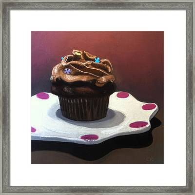 Chocolate Cupcake Framed Print by Cristine Kossow