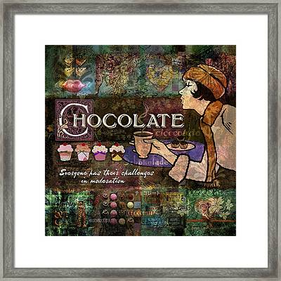 Chocolate Framed Print by Evie Cook
