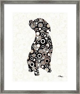 Chocolate Lab - Animal Art Framed Print by Anastasiya Malakhova