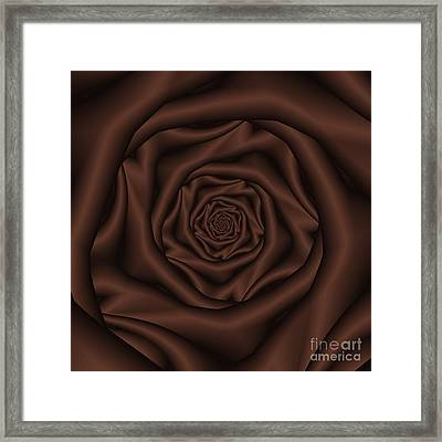 Chocolate Rose Spiral Framed Print by Colin  Forrest