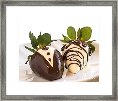 Chocolate Strawberry Tuxedo Framed Print by Iris Richardson