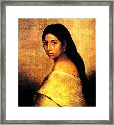 Choctaw Belle Framed Print by Phillip Romer