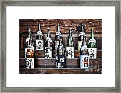 Choice Of Sake Framed Print by Delphimages Photo Creations