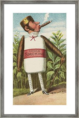Choice Smoking Framed Print by Aged Pixel