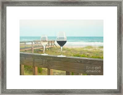 Choices At The Beach Framed Print by Kay Pickens