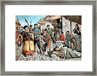 Cholera Amongst Famine Victims In China Framed Print by Universal History Archive/uig