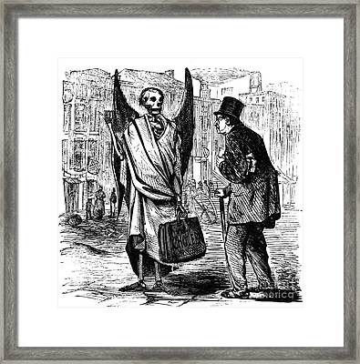 Cholera In Slums, 1866 Framed Print by Granger