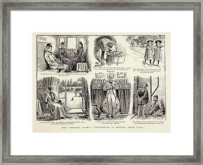Cholera Prevention Methods Framed Print by British Library