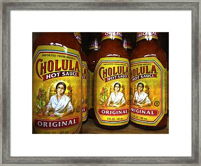 Cholula Hot Sauce Mexico Framed Print by Daniel Hagerman