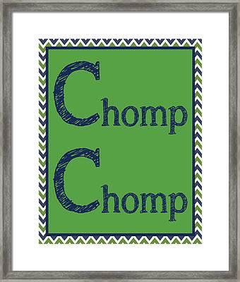 Chomp Chomp Framed Print by Jaime Friedman