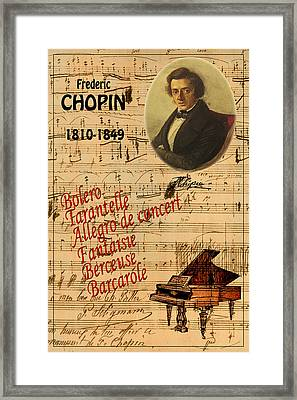 Chopin Framed Print by Andrew Fare