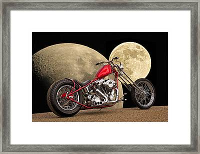 Chopper Two Moons Framed Print by Dave Koontz