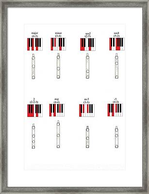 Chords 1 Framed Print by Giuliano Capogrossi Colognesi